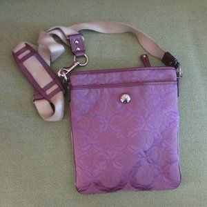 Coach Purple Signature Op Art Crossbody Purse
